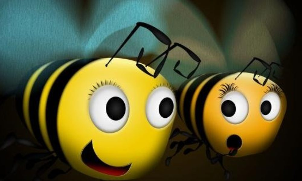 The Bee Movie Bees Flying
